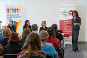 Begrüßung durch  Regine Lorenz, Allianz Stiftungsforum  | Foto: Landesfreiwilligenagentur Berlin / Gregor Baumann